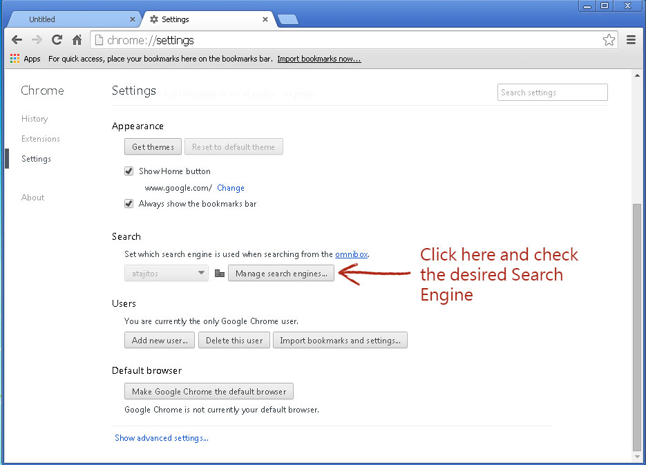 How do I make Google my default search provider in Windows ...