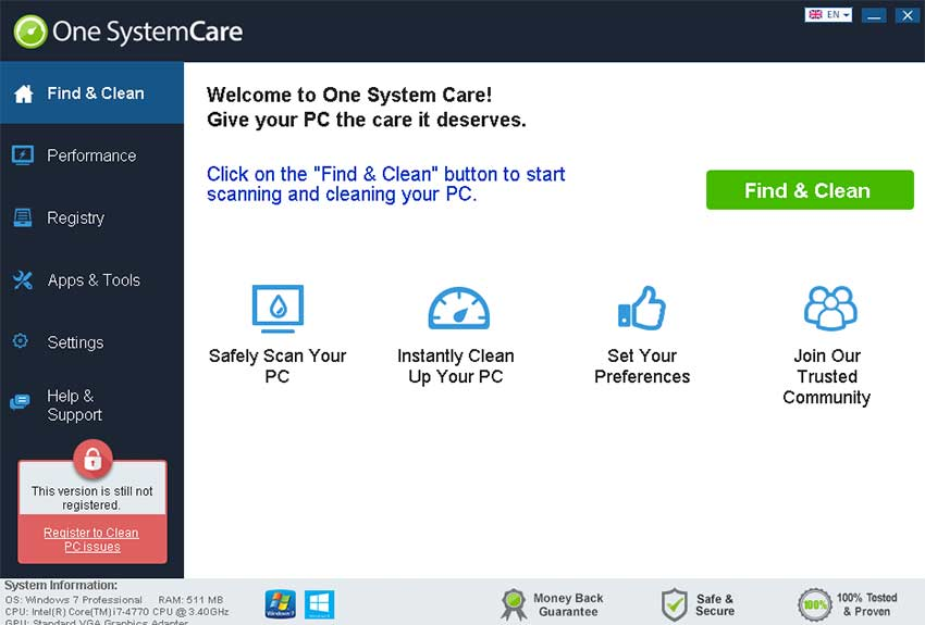 remove One SystemCare
