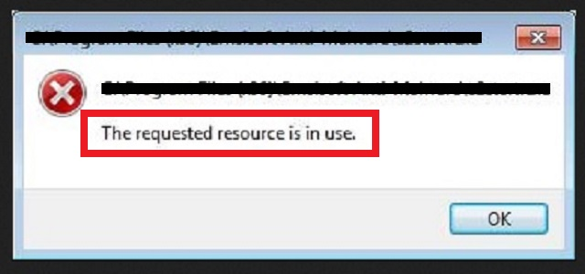 "Remove ""The requested resource is in use"""