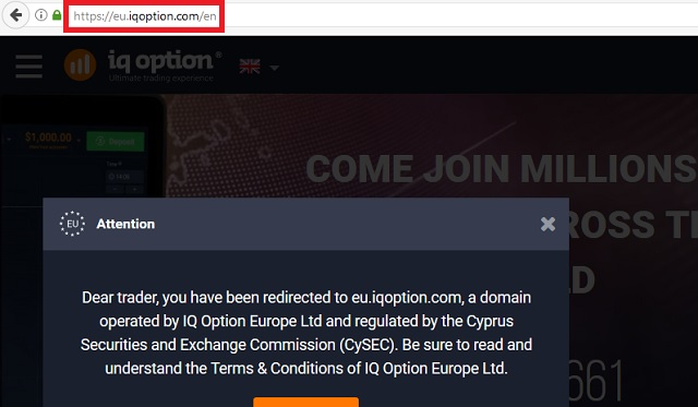 Remove Iqoption.com