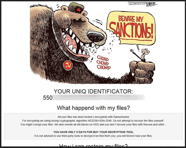 Remove Sanctions Ransomware