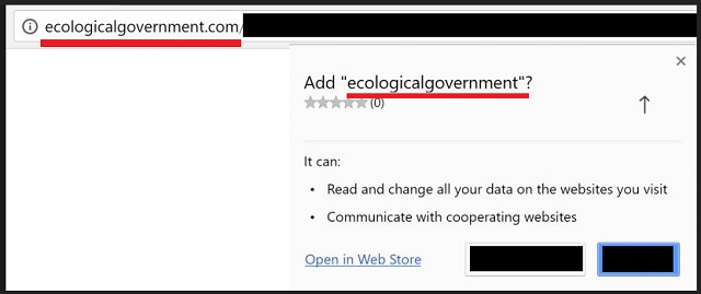Remove Ecologicalgovernment Virus